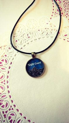 Night Court Pendant Necklace ACOMAF ACOTAR by TheGlassArcade