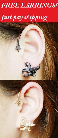 RunniHorse Earrings #lafitnessmembershippricesfees,