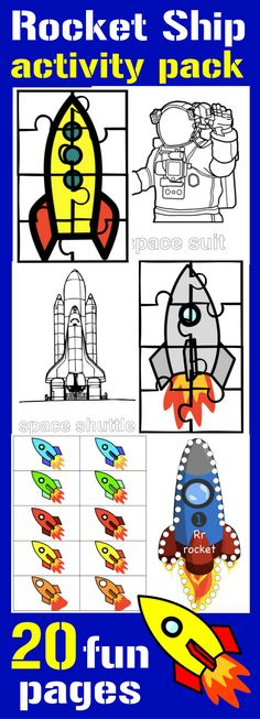 FREE 20 Page Rocket Ship Activity Pack and WIN a CAR Sweepstakes #CambioConfiable Ad Fabulous fun kids' activities for your little astronaut!
