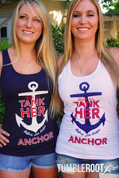 Adorable Help Us Tank Her Before She Drops Anchor Bachelorette party tank tops by TumbleRoot! super cute!!!