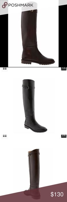 """Banana republic new Riding Boots Color Expresso. Size 8.   Soft leather upper. Gunmetal hardware. Breathable synthetic lining. Exclusive Padding System features memory foam and a cushioned insole designed for all-day comfort. Flexible rubber outsole. Side-zip closure.   17"""" boot height. 14"""" circumference. Banana Republic Shoes Winter & Rain Boots"""