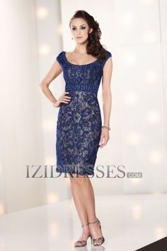 Sheath/Column Square Lace Mother of the Bride Dress - IZIDRESSES.com