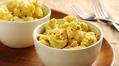 Add a little flair to basic cauliflower by stirring in orange peel and Asiago cheese.