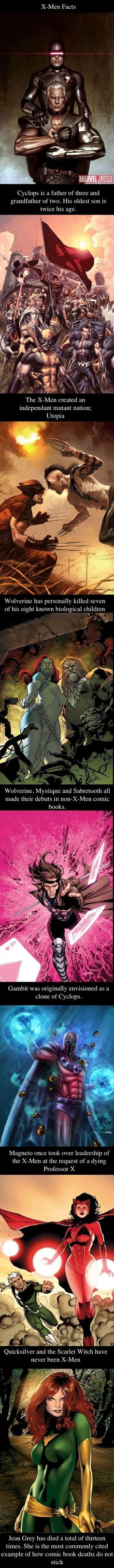 X-Men Facts Compilation // funny pictures - funny photos - funny images - funny pics - funny quotes - #lol #humor #funnypictures