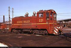 RailPictures.Net Photo: LV 221 Lehigh Valley EMD SW-7 at Newark, New Jersey by George W. Hamlin