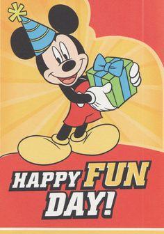 Disney Die Cut Mickey Mouse Terrific Hat Happy Birthday Greeting Card Hallmark