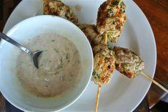 Turkey Kofta with Tahini Sauce (on Skewers!)