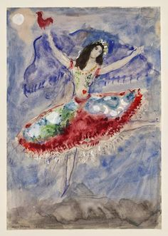 Ballet and Art: Marc Chagall - Aleko and His Wife Zemphira From an Old Russian Tale - 1955