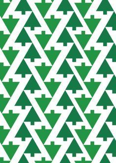Tumbling Trees By MOO. Mathematics and forestry unite for a festive knees-up in the tessellating trees. For extra fun, ask a friend to count exactly how many trees there are in each design. They'll be there all night.