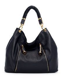Michael Kors Tonne Pebbled Leather Hobo