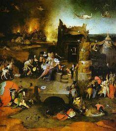 Charles Fonseca: A tentação de Santo Antão. Hieronymus Bosch