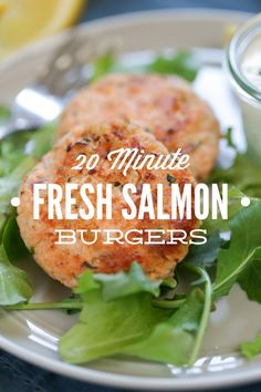 Homemade Fresh Salmon Burgers: A fast 20 minute real food meal the whole family loves!