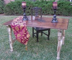 Reclaimed Wood Furniture - Dining Table - Old World Design #1