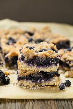 Blueberry Crumb Bars Recipe (Gluten-Free, Vegan)