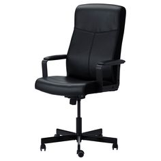 ikea malkolm swivel chair bomstad black you sit comfortably since the chair is adjustable in height