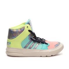adidas Stellasport Irana High-Top Training Shoe Brand new in box. Never worn. Fun, sporty and colorful, the women's adidas Stellasport Irana are bold and perfect for your athleisure lifestyle. These high-top cross trainers are part of Stella McCartney's collection and feature her unique lace system. Fabric and synthetic upper. Padded collar and tongue. High-traction outside for multidirectional movements. Has great reviews. Adidas by Stella McCartney Shoes Sneakers