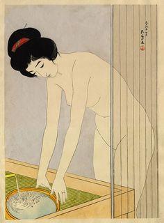Woman Washing Her Face by Hashiguchi Goyo, 1920
