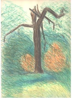 Guard Tree original hand printed monotype by printsnat on Etsy