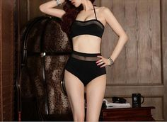 2014 Hot swimsuit high waist swimwear padded retro by notonlysexy, $22.86