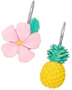 Saturday Knight 12pc Pineapple Shower Hook Set One Size *** Check out the image by visiting the link. Note:It is Affiliate Link to Amazon.