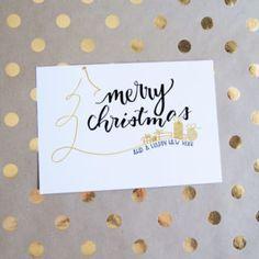 Merry Christmas with tree and presents - Karten Lettering - Geschenke Merry Christmas Calligraphy, Merry Christmas Card, Christmas Quotes, Xmas Cards, Handmade Christmas, Christmas Crafts, Christmas Letters, Christmas Christmas, Christmas Presents
