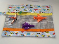 Airplane Runway Car Caddy Roll Up Play Mat on Etsy, $18.00