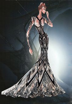 Blanka Matragi – sketch of dresses II