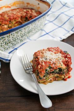 Zucchini Lasagna with a Beefy Bolognese Sauce via The Kittchen=