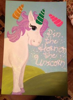 Pin the Horn on the Unicorn game.