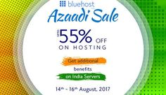 #Bluehost #India #Independence #Day Sale Grab flat 55% Off on all web hosting plans@ http://www.updatedreviews.in/hosting-coupon/bluehost-india #Bluehost #Azaadi #Sale #Bluehost #IndependenceDay #Sale