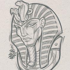 King Tut Pencils #kingtut #king #art #graffiti #pencils #digital #design #illustration #sketch #absorb81 #mascot #mascotdesign