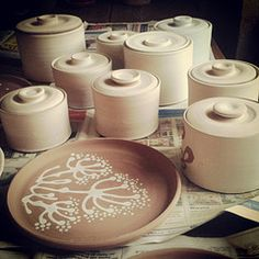 Sorting out pots for my next firing