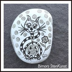 #paintedstones#cat#doodleart