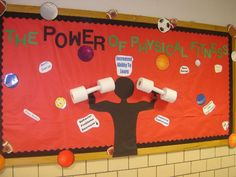 PEC: Bulletin Boards for Physical Education...totally doing this in the MS Girl's Locker Room!