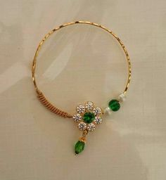 Nose Ring Jewelry, Gold Rings Jewelry, Antique Jewelry, Jewelery, Nose Rings, Plain Gold Bangles, Gold Bangles Design, Jewelry Design, Indian Wedding Jewelry