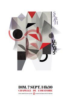 poster / A3 / Sarah Hughes + Fernand Léger / dsd records + Musée des Beaux Arts de Nantes / sept. 2014