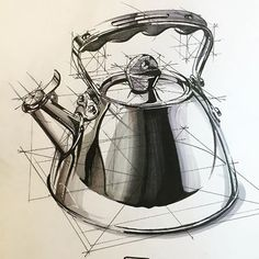By Hakan Gursu @hakangursudr Kettle sketch . #kettle #behance #portfolio #idea…