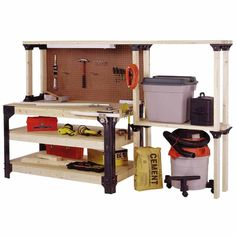 2x4basics 90164 Workbench and Shelving Storage System - Amazon.com  YOU DESIGN AND CUT WOOD