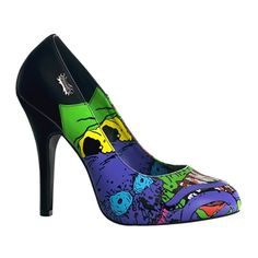 zombie print heels