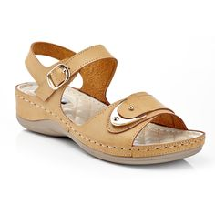 These Henry Ferrera sandals are ideal for warm-weather days. Comfortable Walking Sandals, Comfortable Shoes, Me Too Shoes, Women's Shoes Sandals, Wedge Sandals, Flats, Mens Canvas Shoes, Flip Flop Shoes, Shoes