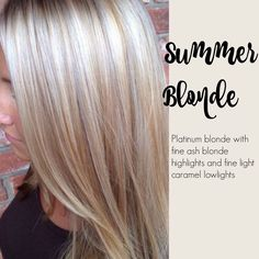 Hair Color Trends 2017/ 2018 Highlights : Summer blonde Platinum blonde with fine ash blond highlights and fine light ca
