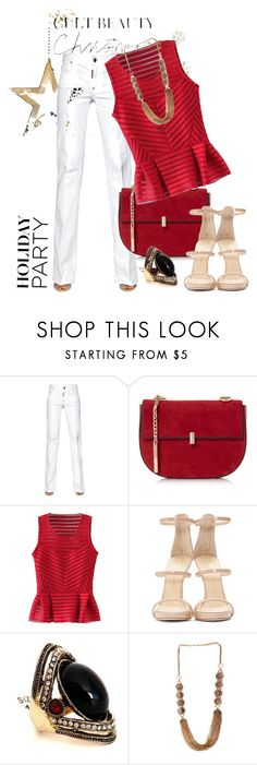 #holidayparty by bianca-2904 on Polyvore featuring moda, Dsquared2, Giuseppe Zanotti and HolidayParty