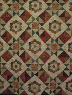 Quilt Inspiration: Vintage Hexagon Quilts