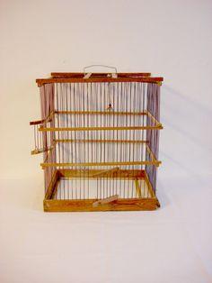 sale -25% Vintage Bird Cage Birdcage Wire / Old Decor Bird House Wire Display  Soviet Vintage 70s
