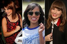 25 Celebrity Haircuts That'll Make You Want Bangs, Stat: Beauty: glamour.com