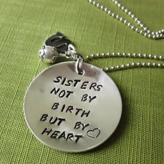 Sisters Necklace in Sterling Silver, Personalized & Hand Stamped