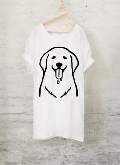 ゴールデンレトリバー Tシャツ (ホワイト)犬