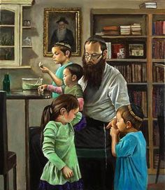 Rabbi Lieberow and Family by Harry McCormick.