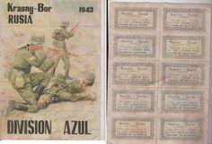 Cupones de racionamiento sin cortar DIVISION AZUL KRASNY-BOR RUSIA 1943 | eBay
