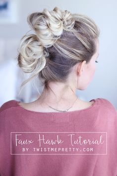 This gorgeous and easy faux hawk tutorial has such a fun and romantic vibe, it's perfect for everyday wear or a night out. Come checkout the tutorial!